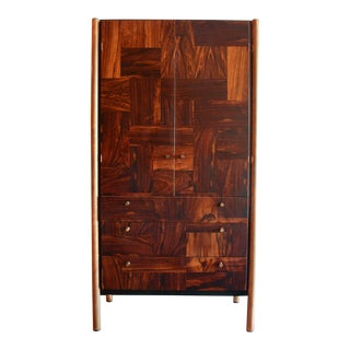 Rougier Jacaranda Wood, Bronze and Black Lacquer Cabinet, Canada, 1970 For Sale