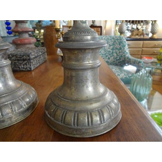 19th Century Italian Louis XVI Style Silver Plate Candleholders - a Pair Preview