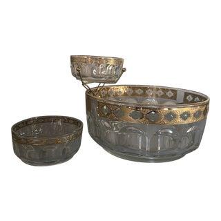 Culver Valencia Chip N' Dip Bowl Set - 3 Pieces For Sale
