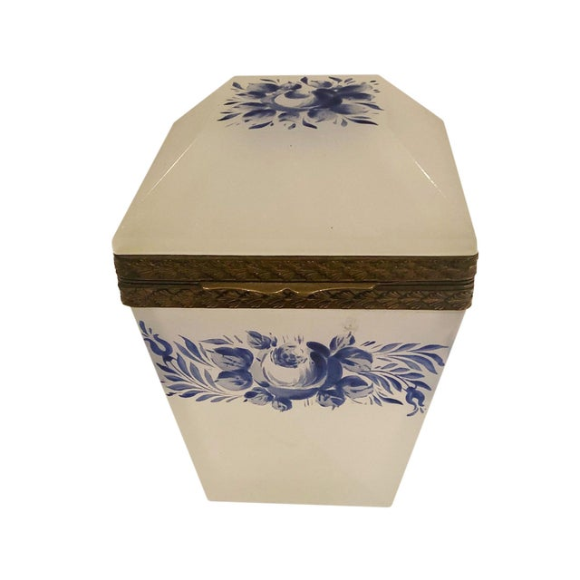 Vintage French Opaline Box For Sale - Image 9 of 9