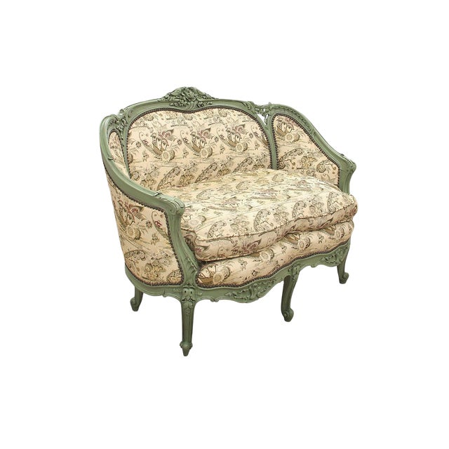 French Rococo Style Settee For Sale