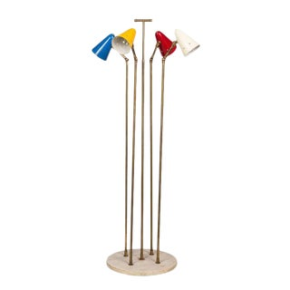 1950s Italian 4-Cone Floor Lamp in the Manner of Arteluce