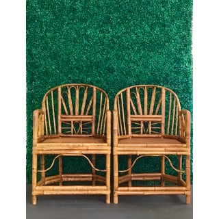1980s Vintage Brighton Bamboo ChairsA Pair Preview