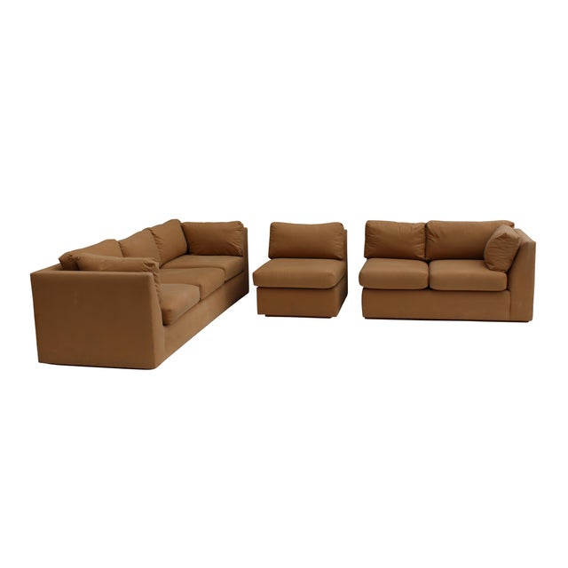 Modern 3-Piece Sectional Sofa For Sale - Image 6 of 10