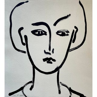 1994 Abstract Portrait by Jack Hooper For Sale