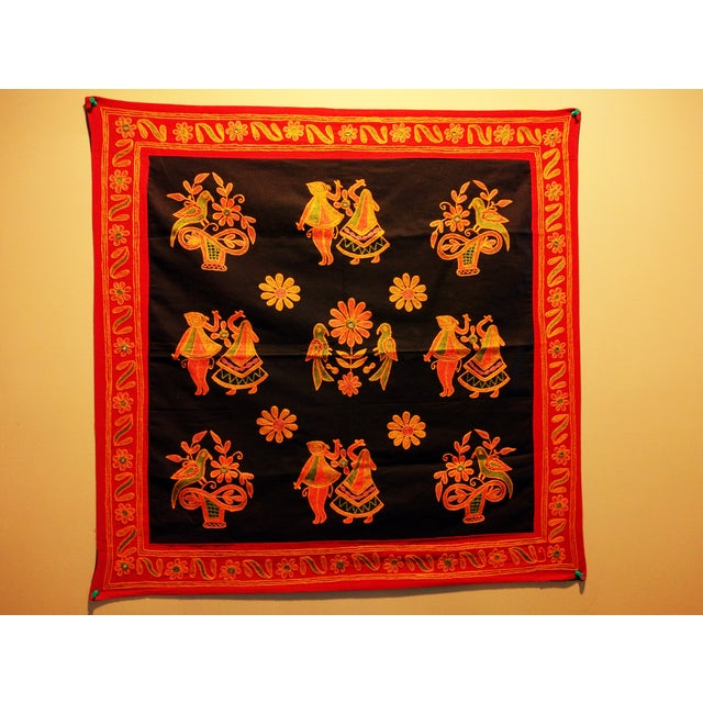 Ethnic Indian Embroidered Tapestry - Image 3 of 6