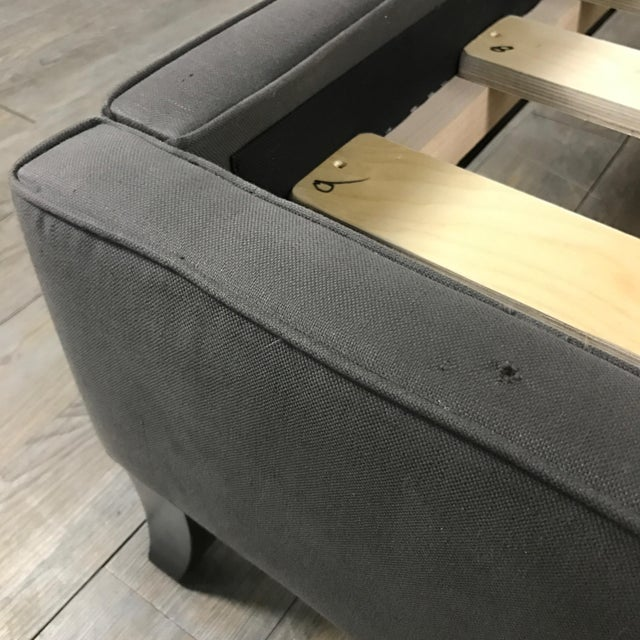 Crate & Barrel Upholstered King Bed - Image 8 of 11
