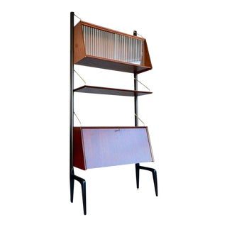 1955 Louis Van Teeffelen for Webe, Netherlands Wall Unit For Sale