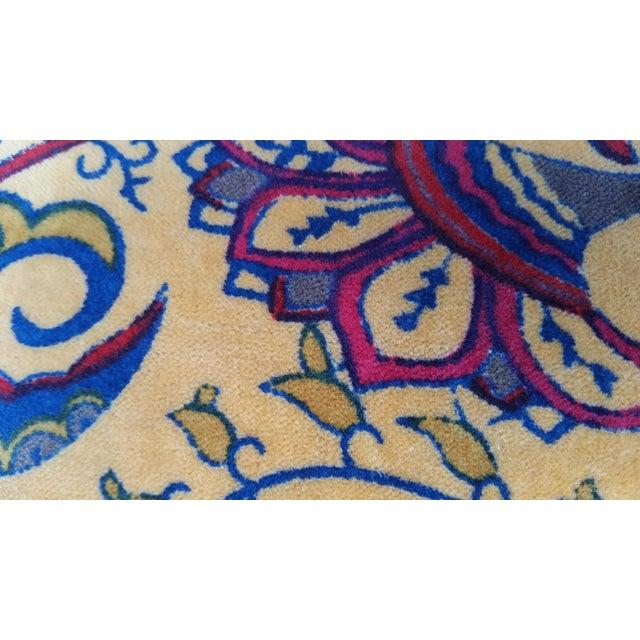 Vibrant Golden Yellow Velvet Pillows - A Pair For Sale - Image 4 of 5