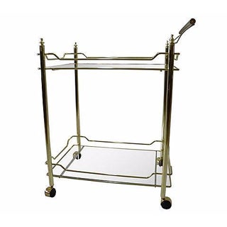 Vintage Brass Serving Cart