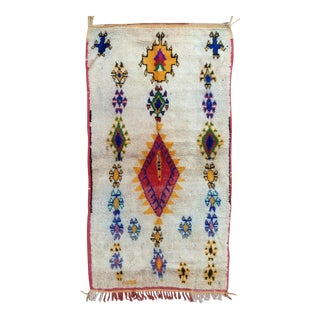 1980s Azilal Rug- 3′11″ × 7′4″ For Sale