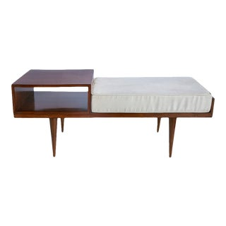 Telephone Seat in Jacaranda with Tapered Legs For Sale
