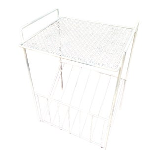 Vintage White Rack Stand For Sale