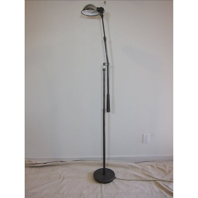 Articulating Industrial-Style Steel Floor Lamp - Image 3 of 8