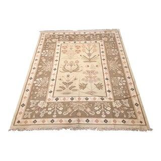 Vintage Kilim 100% Wool Superfine Flatweave Area Rug - 8′2″ × 10′7″ For Sale