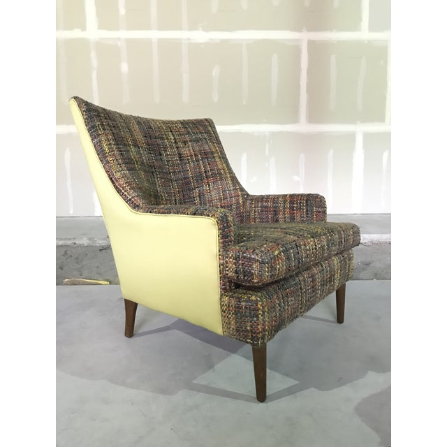 Lawrence Peaboby for Richardson / Nemschoff 1960s Mid Century Modern Scandinavian High Back Lounge Chair Model 9203 and Ottoman For Sale - Image 6 of 13