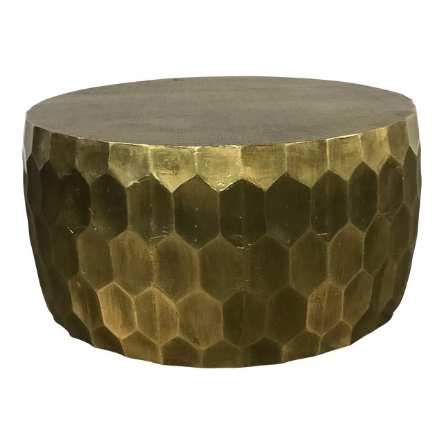 Pottery Barn Metal Clad Coffee Table - Image 1 of 10