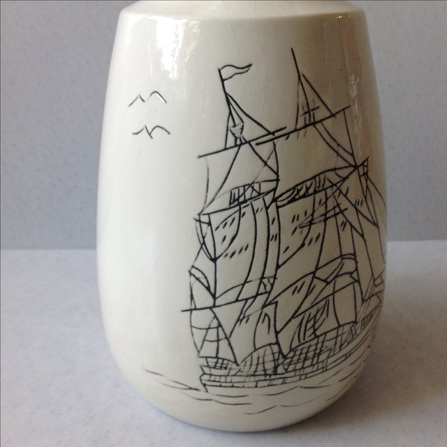 Hand-Crafted Nautical Pottery Decanter - Image 4 of 9