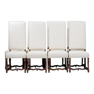 Set of 8 Newly Upholstered Os de Mouton Chairs
