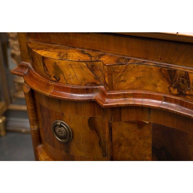 19th Century Italian Rococo Burl Walnut Slant Front Desk For Sale In West Palm - Image 6 of 8