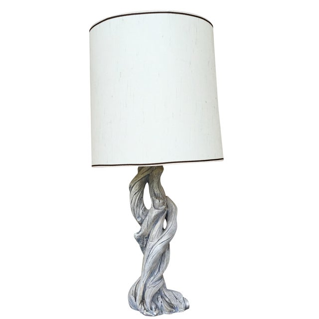 Mid-Century Faux Bois Table Lamp - Image 1 of 4