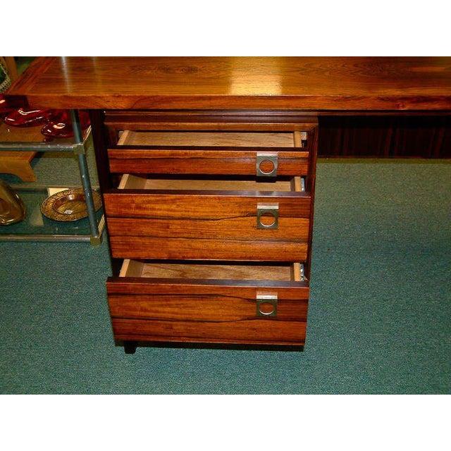 Arne Vodder Rosewood Executive Desk - Image 5 of 10