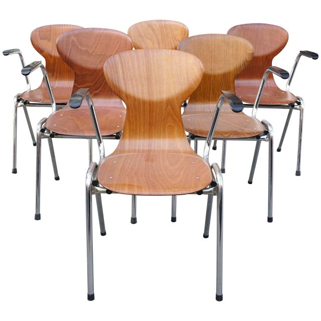 Obo Arm Chairs With Rounded Back - Set of 6 - Image 1 of 3
