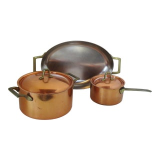 Paul Revere Cookware, Set of 3 For Sale