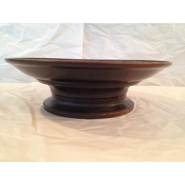 Antique Carved Wood Bowl - Image 5 of 6