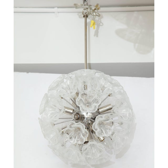 Italian Floral Glass Sputnik Chandelier For Sale In New York - Image 6 of 11