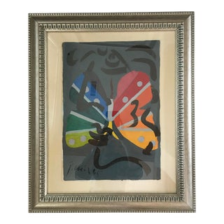 """Peter Keil Painting, """"Miró and Me"""" - Framed For Sale"""