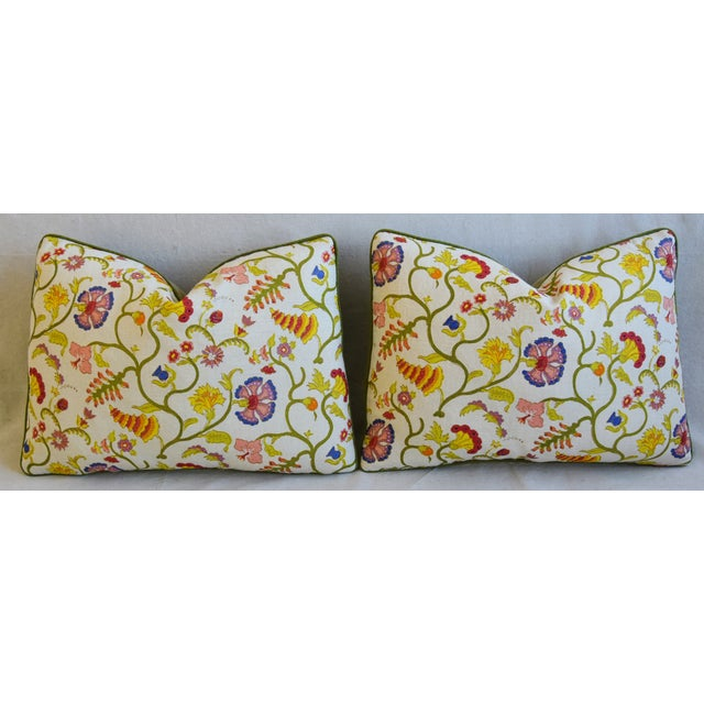 """Designer Floral Raoul & Scalamadre Mohair Pillows 23"""" X 16"""" - Pair For Sale In Los Angeles - Image 6 of 13"""