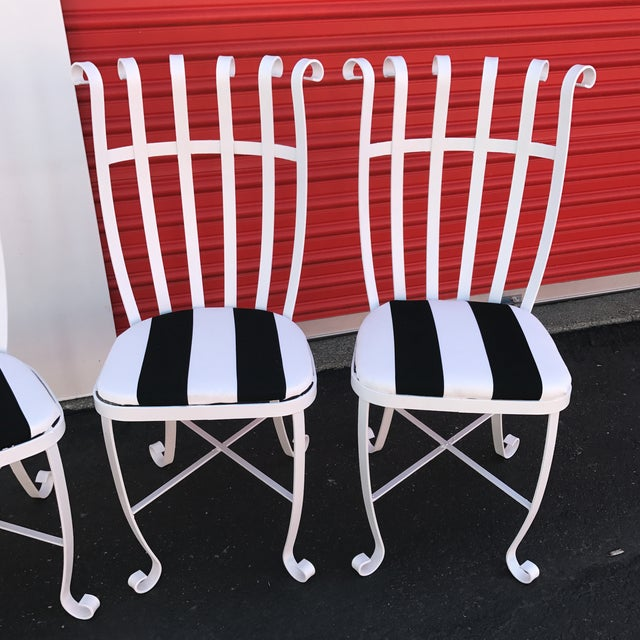Vintage Metal Outdoor Chairs - Set of 4 - Image 9 of 11