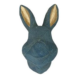 Emily Meritt Denim Bunny Bust For Sale