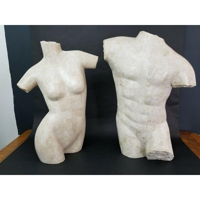 Stone Marquis Collection Of Beverly Hills Tessellated Stone Male Nude Torso For Sale - Image 7 of 7