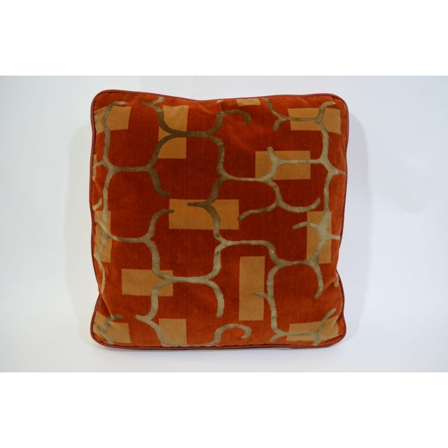 Custom Made Autumnal Tone Pillows - Set of 4 For Sale - Image 4 of 6