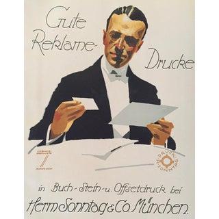1927 German Art Deco Fashion Poster, Gute Reklame Drucke (Haberdasher)