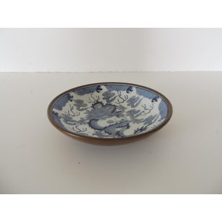 Vintage Blue and White Porcelain Dragon Dish Preview