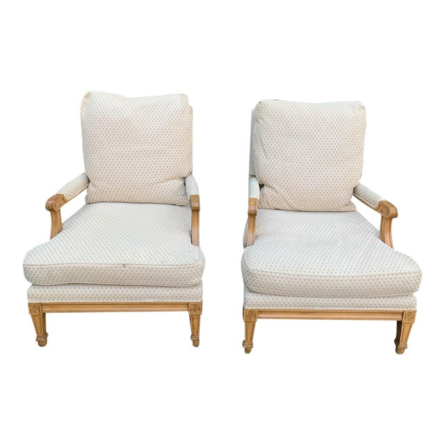 Nancy Corzine Upholstered Chairs - a Pair For Sale