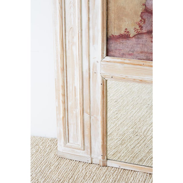 19th Century French Provincial Painted Trumeau Mirror For Sale - Image 10 of 13