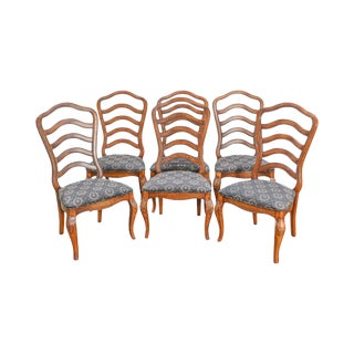 French Country Style Ladderback Dining Chairs - Set of 6