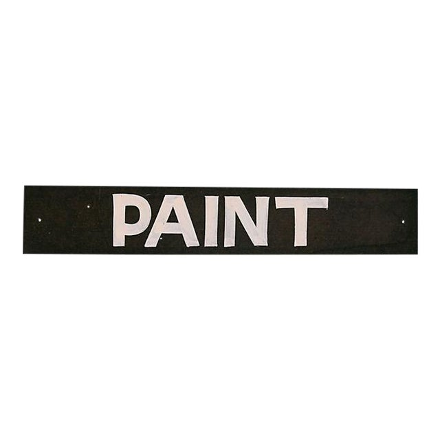 Vintage Paint Store Sign For Sale