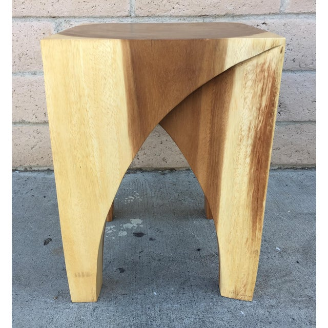 Boho Chic Chiang Mai Curve Stool or End Table For Sale - Image 4 of 4