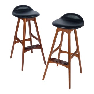 Pair of Erik Buch Bar Stools For Sale