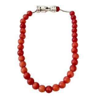 David Yurman Men's Coral Spiritual Bead Bracelet For Sale