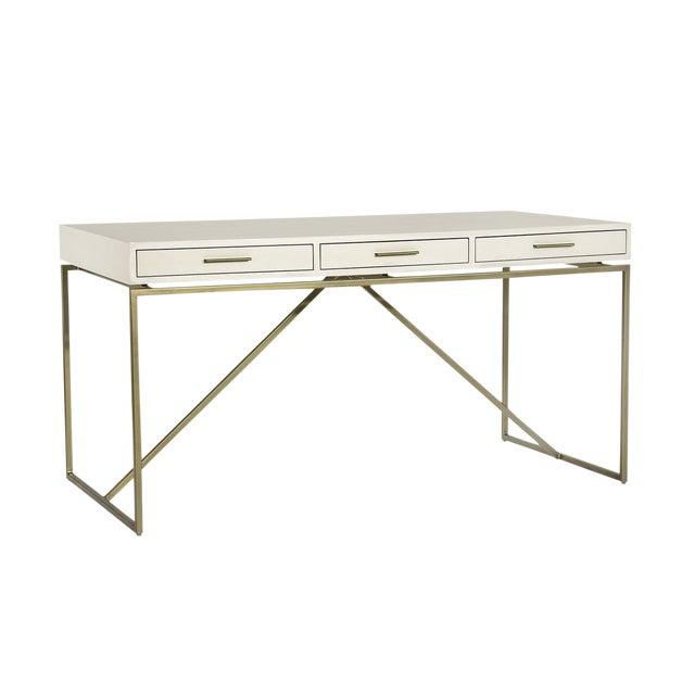 Interlude Home Emmet Snakeskin Desk - White For Sale