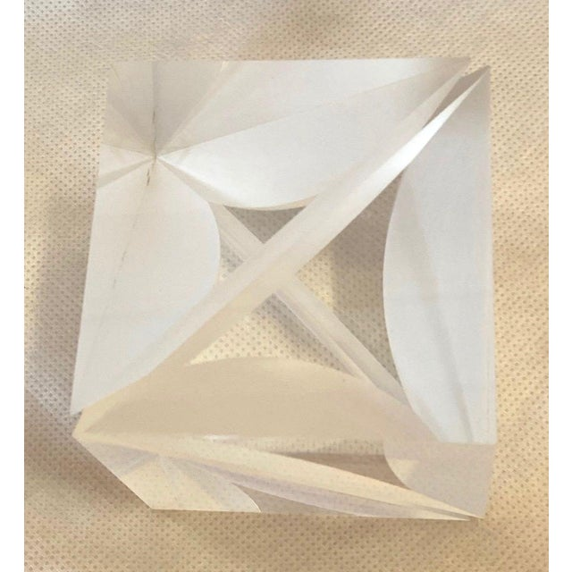 Transparent 1970s Italian Alessio Tasca Lucite Cube For Sale - Image 8 of 13