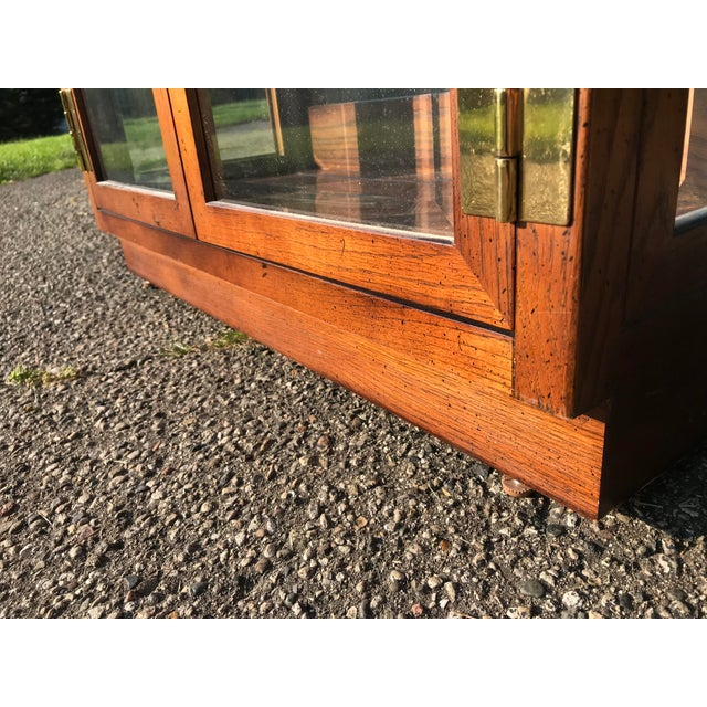 Oak and Glass Display Cabinet by Henredon For Sale - Image 6 of 10