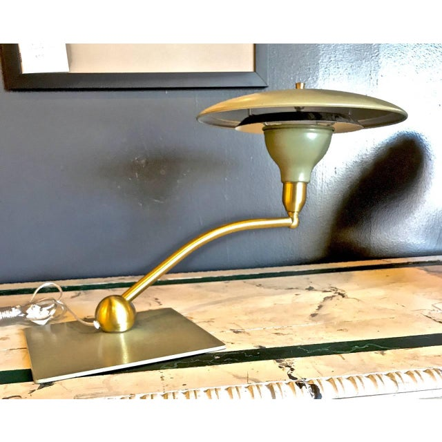 1960s Flying Saucer Desk Lamp by Dazor, circa 1960 For Sale - Image 5 of 6