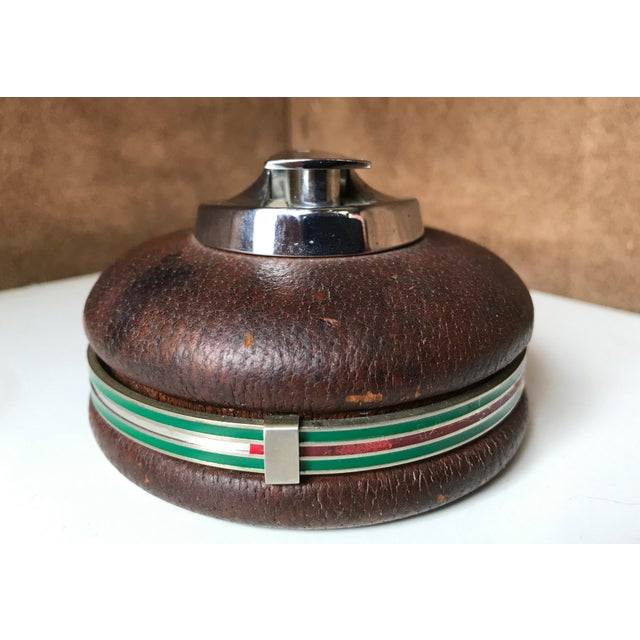 1980s 1980s Vintage Gucci Spherical Leather Lighter For Sale - Image 5 of 8